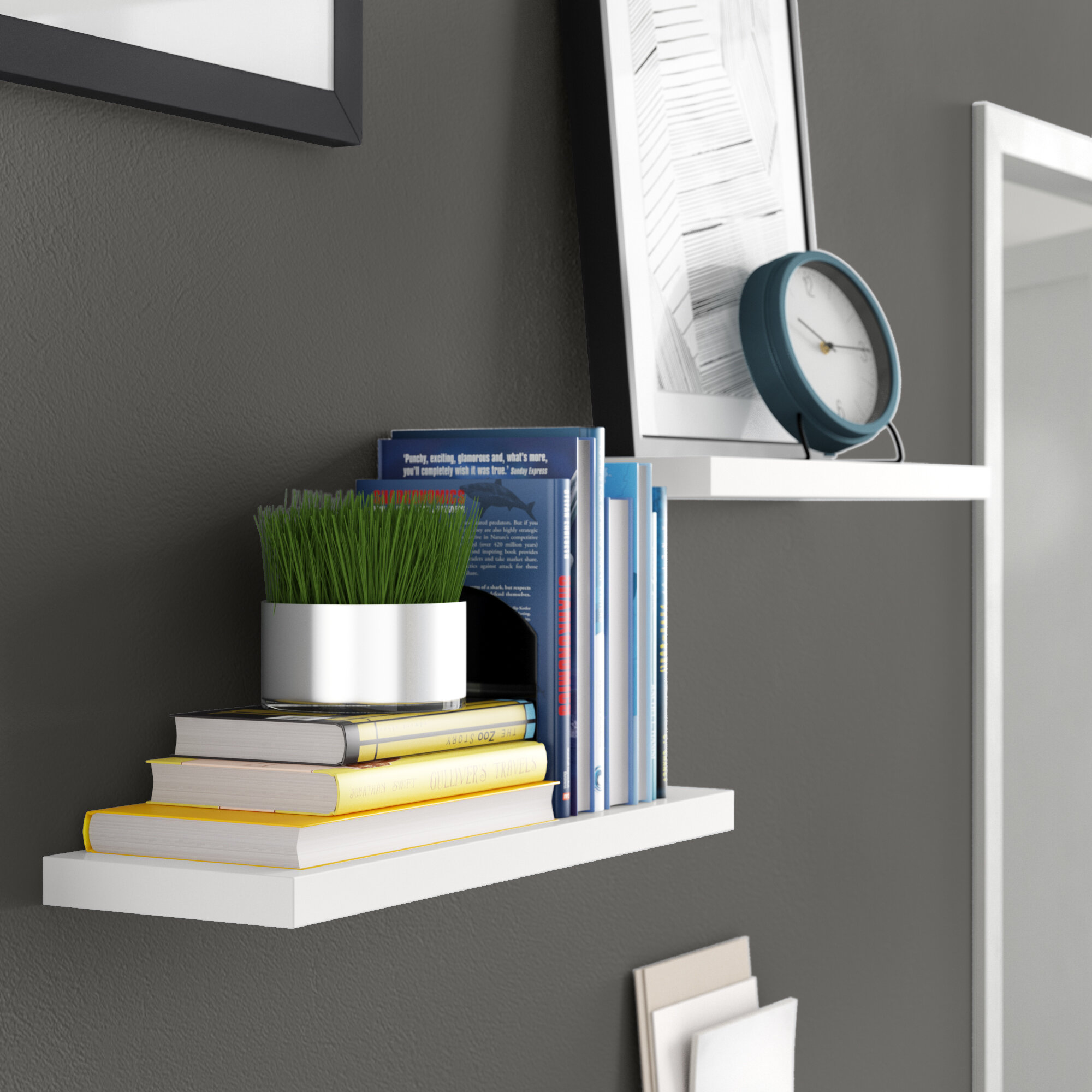 Wall To Wall Shelves kennesaw floating wall shelf