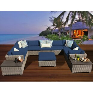 TK Classics Monterey 12 Piece Sectional Set with Cushions