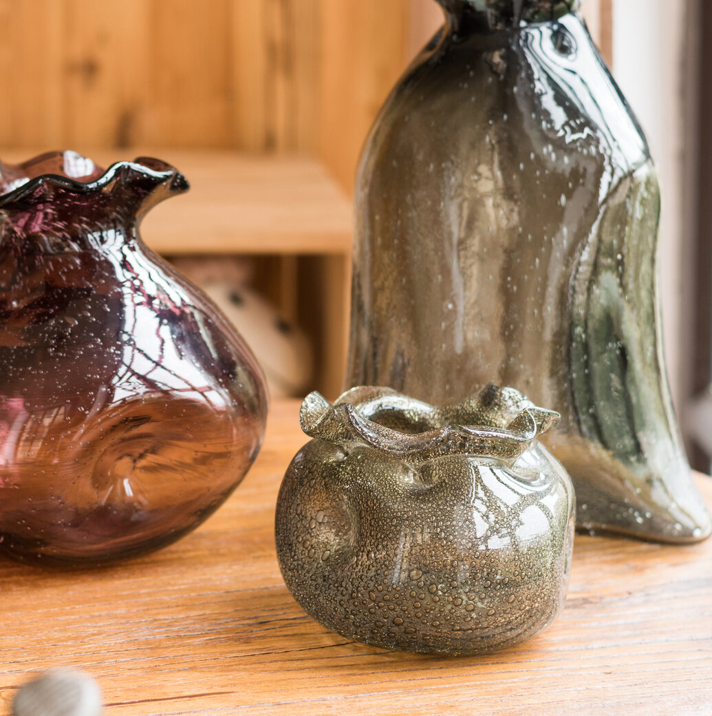 Wrought Studio Wray Glass Hand Blown Bubble Pocket Table Vase Wayfair