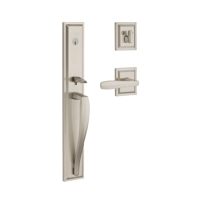 Baldwin Prestige Torrey Pines Low Profile Single Cylinder Full Escutcheon With Lever Featuring Smartkey