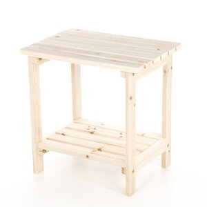 Arcel Rectangular Cedar Side Table
