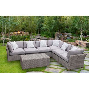 Brayden Studio Serina 7 Piece Sectional Set with Cushions