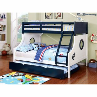 Boatner Twin Over Full Bunk Bed with Trundle and Drawers by Harriet Bee