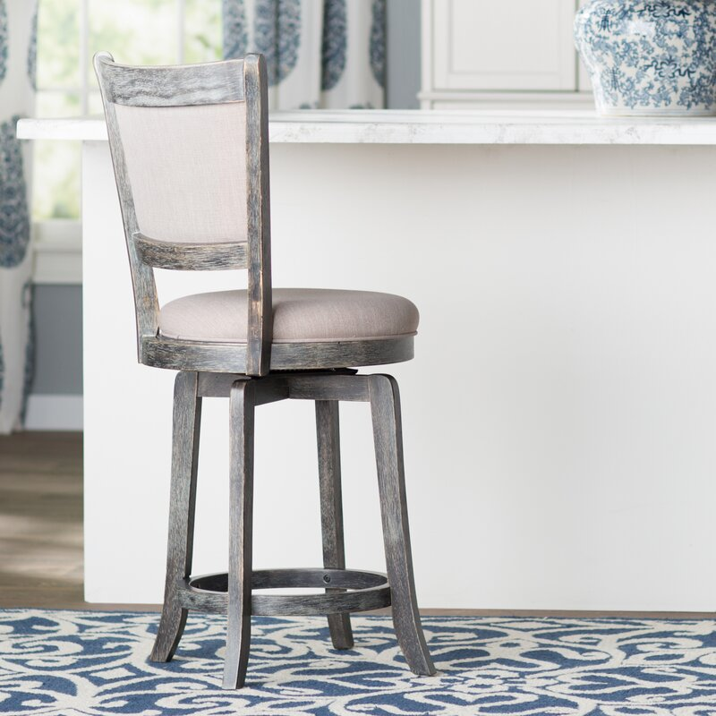 Topeka 24  Swivel Bar Stool & Darby Home Co Topeka 24