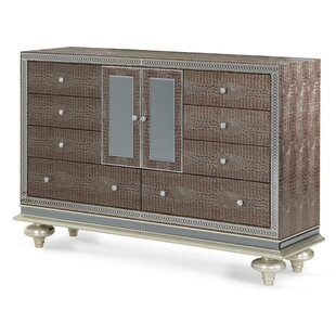 Hollywood Swank 9 Drawer Combo Dresser by Michael Amini Modern