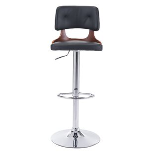 Peter Adjustable Height Bar Stool Wade Logan