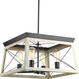 Laurel Foundry Modern Farmhouse Delon 4-Light Square/Rectangle Chandelier
