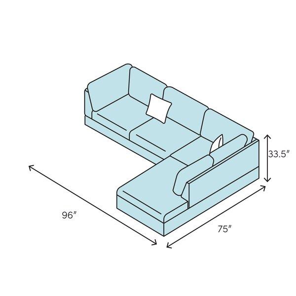 Orren Ellis Zutphen Mini Sleeper Sectional Wayfair