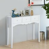 Edwyn Wood Narrow Front Entry Console Table by Rosalind Wheeler
