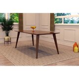 Howardville Rubberwood Solid Wood Dining Table by George Oliver