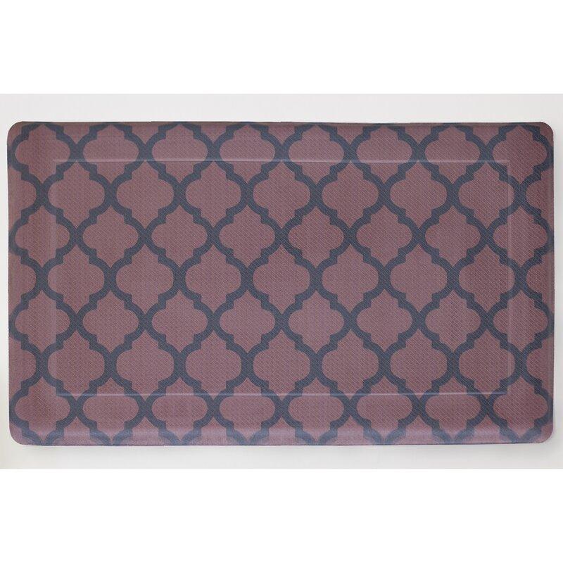 Comfort Quatrefoil Anti Fatigue Kitchen Mat