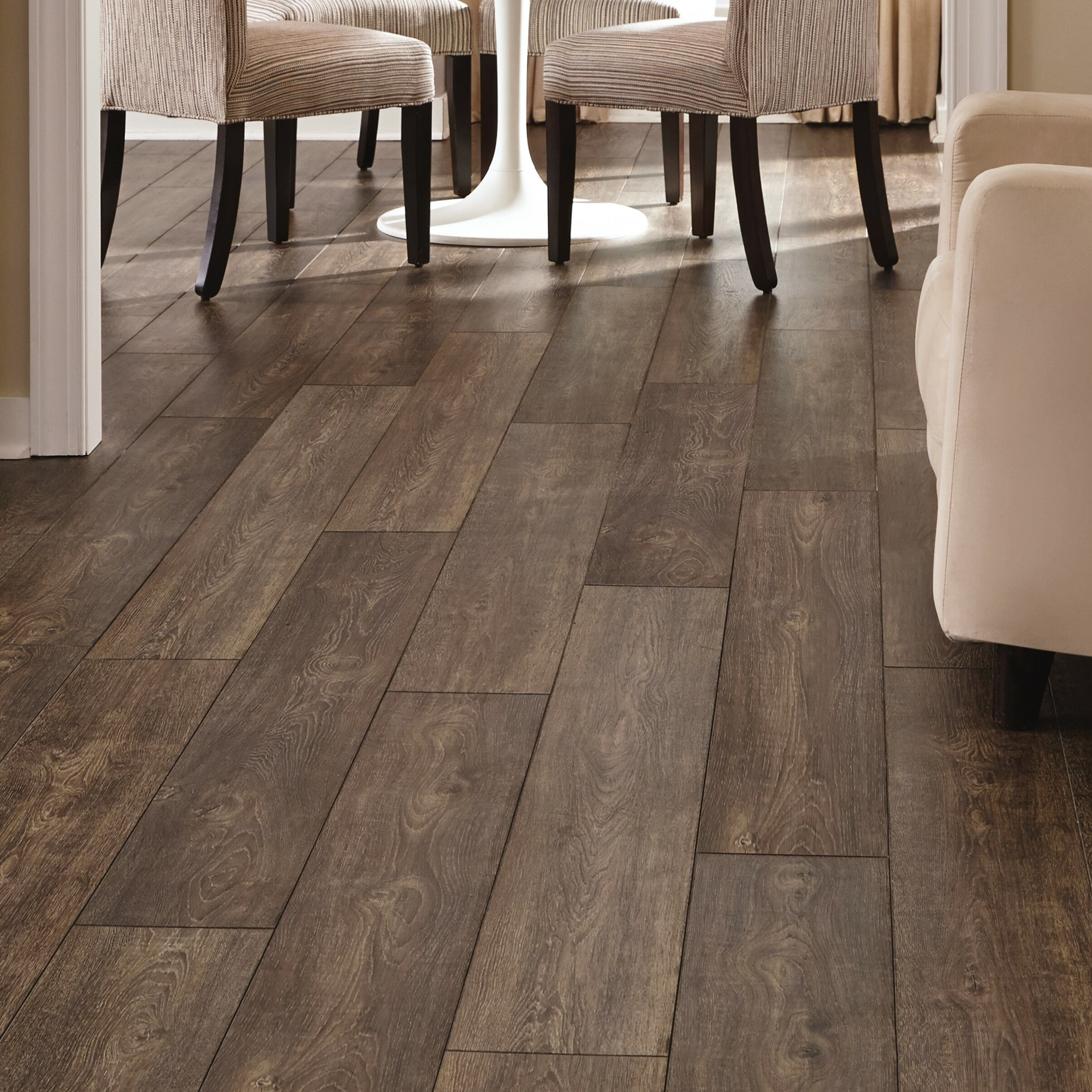 Mannington Restoration Wide Plank 8'' x 51'' x 12mm Oak Laminate Flooring in Caraway | Wayfair