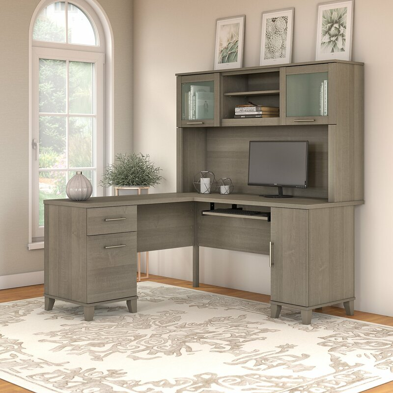 Kittle Somerset L Shaped Executive Desk With Hutch