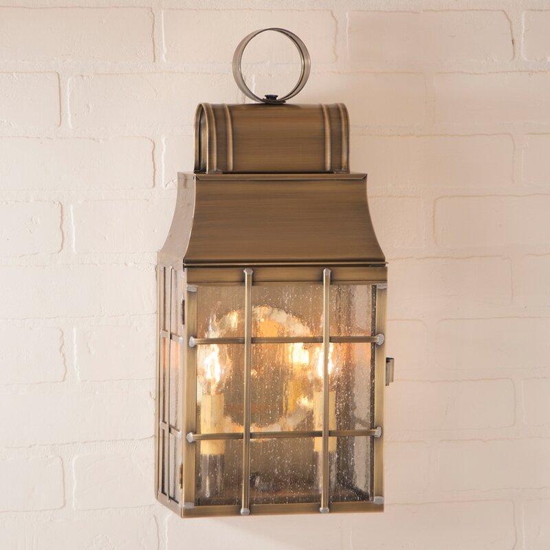 Gracie Oaks Kim 2-Light Outdoor Wall Lantern