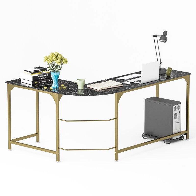 Mercer41 Herlinda Reversible L Shape Desk Wayfair