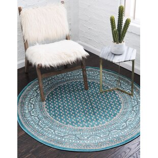 Swinson Teal Area Rug by Charlton Home