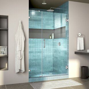 Unidoor Lux 42 x 72 Hinged Frameless Shower Door with Clearmax™ Technology by DreamLine