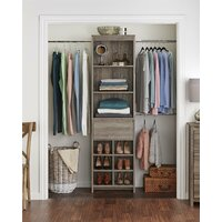 Deals on Three Posts Millom 73.1-inch W - 89.1-inch W Closet System