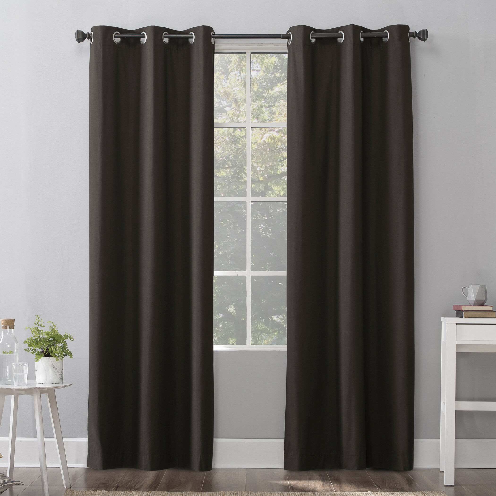 Wayfair basics Solid Max Blackout Thermal Grommet Curtains