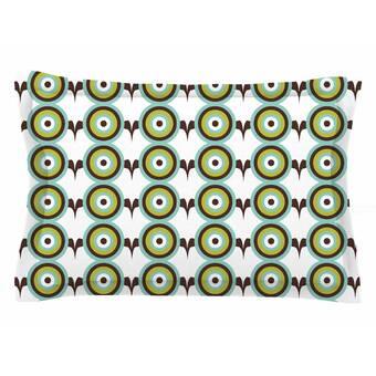 40 x 20 Pillow Sham Kess InHouse afe Images Retro Circles Green Brown Illustration