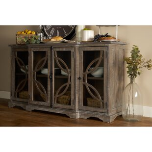 Richas Glass Door Credenza by Bungalow Rose