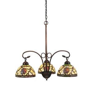 Meyda Tiffany Pinecone Dome 3-Light Shaded Chandelier