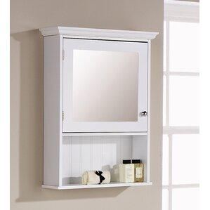 Turku 47cm x 67cm Surface Mount Mirror Cabinet