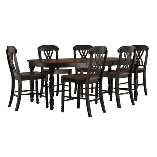 Ashleigh 7 Piece Counter Height Dining Set Alcott Hill