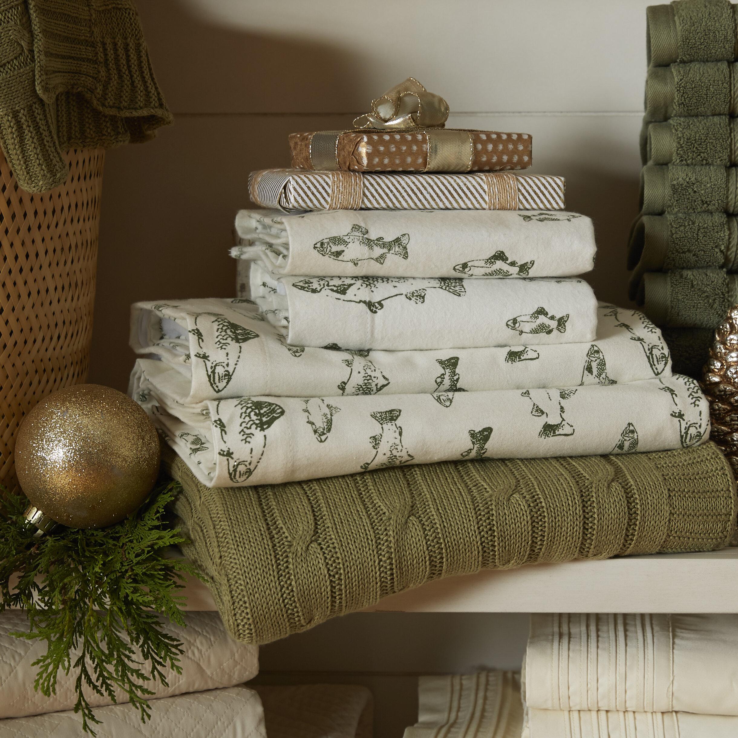 Eddie Bauer 100 Cotton Flannel Sheet Set Reviews Wayfair Ca
