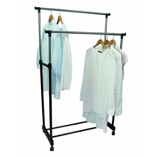 Mederos Adjustable Double Clothes Rack By Rebrilliant