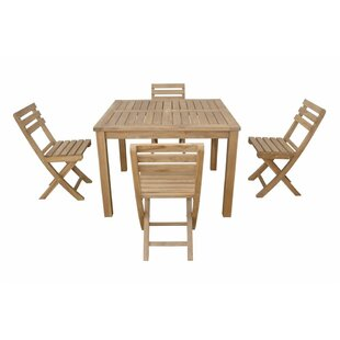 Anderson Teak Montage Alabama 5 Piece Teak Dining Set
