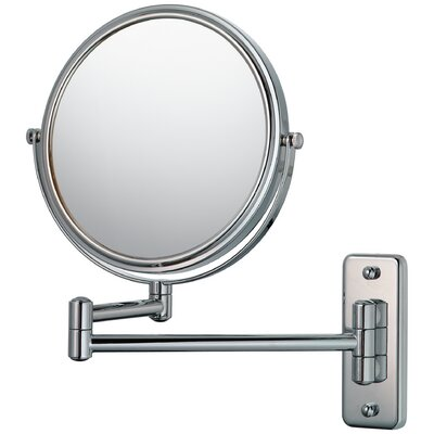 Mirror Image Mirror Image Double Arm Wall Mirror Finish: Chrome