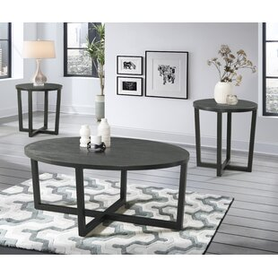 Williston Forge Brodbeck 3 Piece Occasional Coffee Table Set