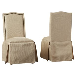 Alison Skirted Upholstered Parson Chair (Set of 2)