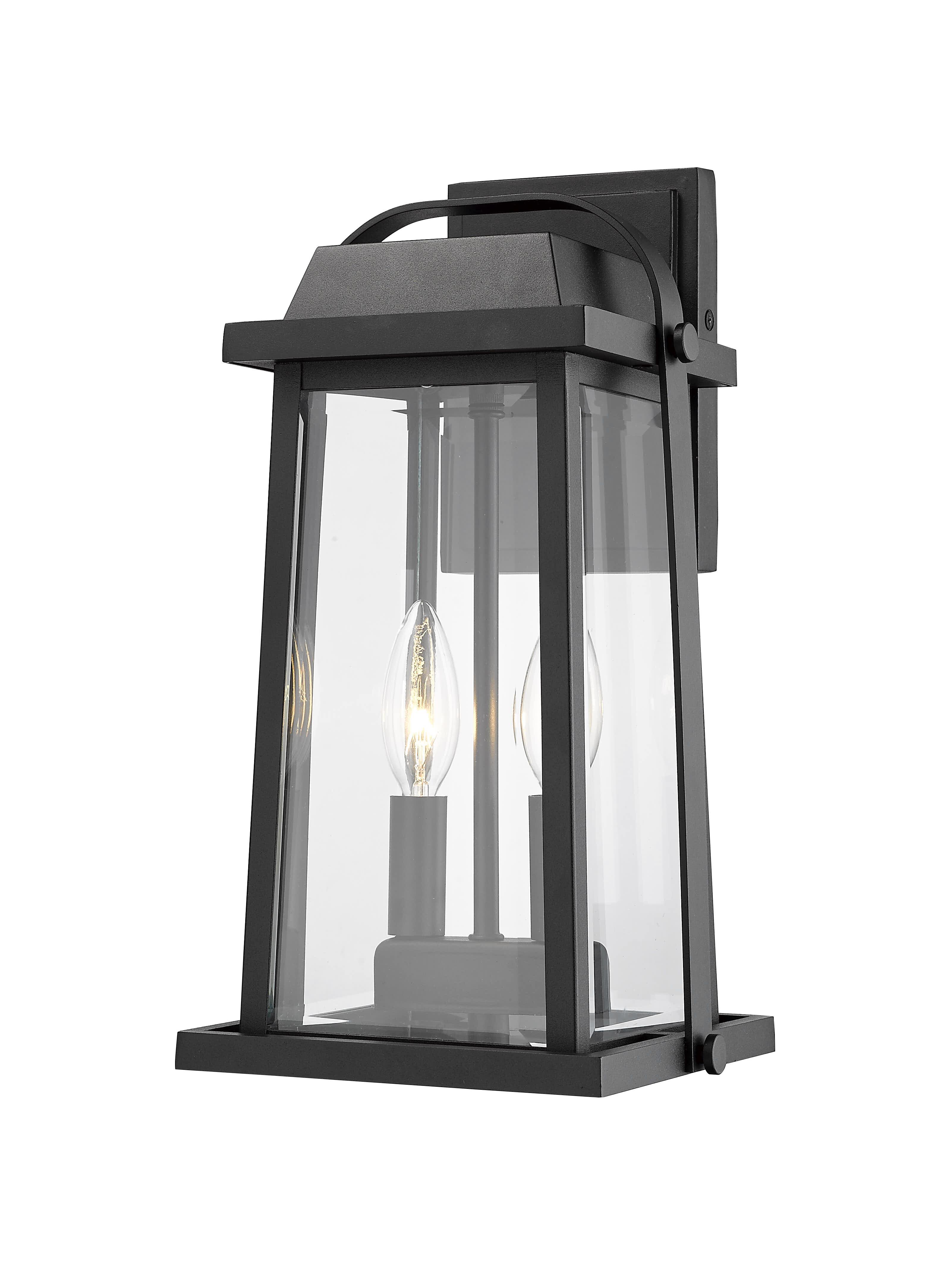 Breakwater Bay Sisto 2 Light Outdoor Wall Lantern Reviews Wayfair