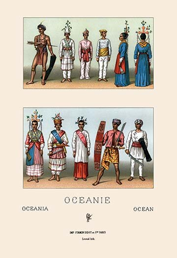 Buyenlarge Oceani Malaysians And Indonesians By Auguste Racinet Graphic Art Wayfair