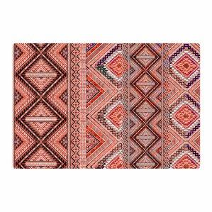 victoria krupp native american art pinkorange area rug