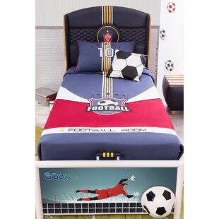 Soccer Twin Panel Bed with Storage