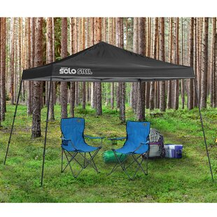 Solo Steel 90 11 x 11 ft. Slant Leg Midnight Blue Canopy by QuikShade