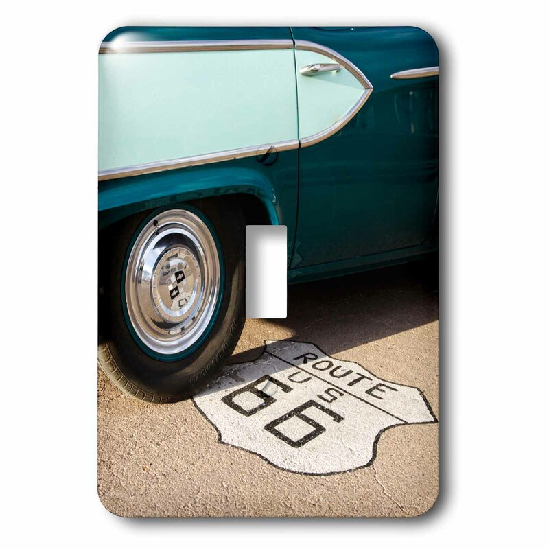 3drose Route 66 1 Gang Toggle Light Switch Wall Plate Wayfair