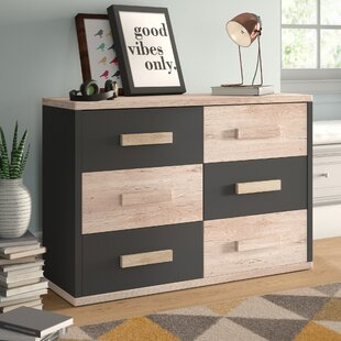 Trule Teen Nowak 6 Drawer Double Dresser