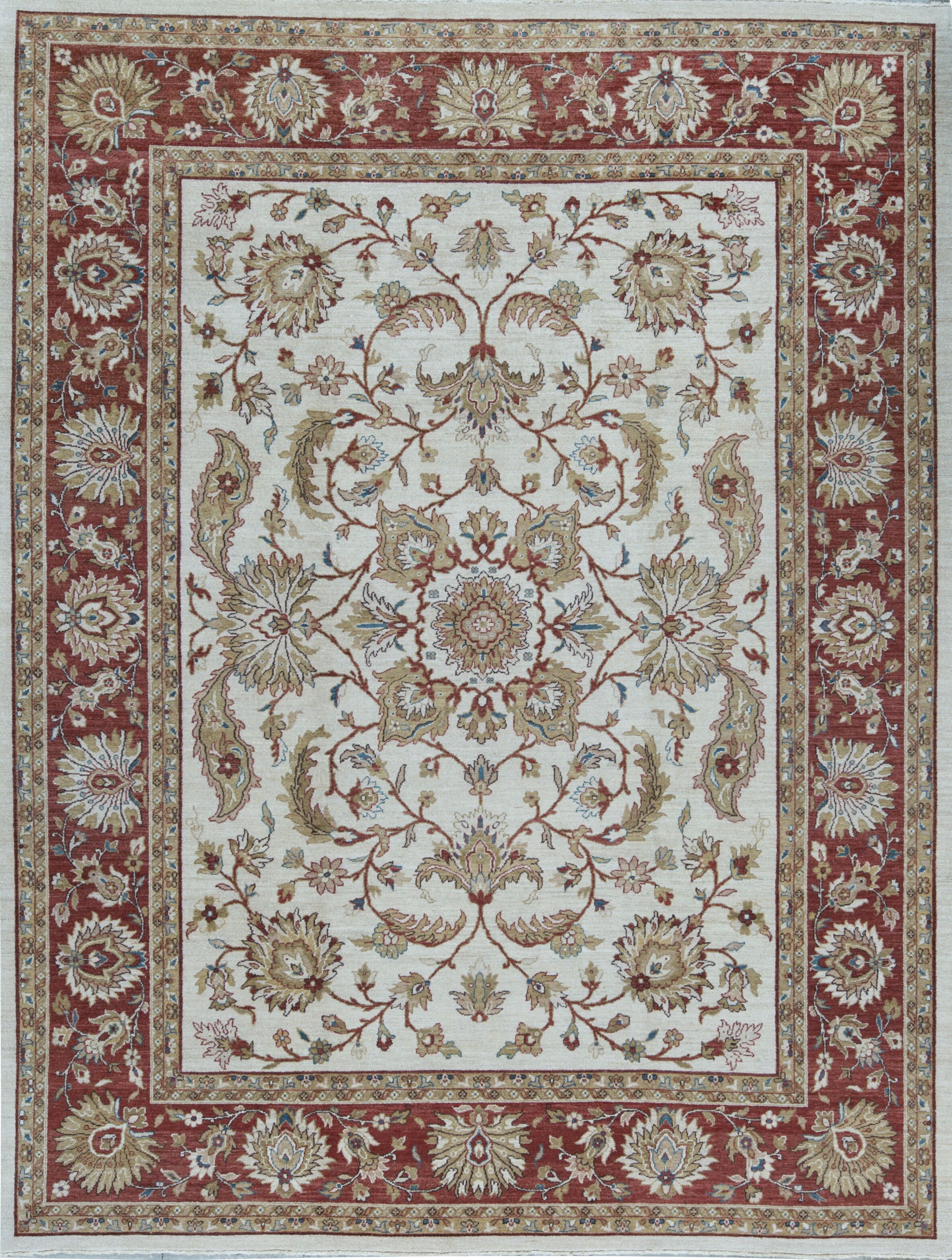 Bokara Rug Co Inc Sultanabad Oriental Hand Knotted Wool Ivory Red Area Rug Perigold
