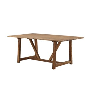Loon Peak Storey Teak Solid Wood Dining T..