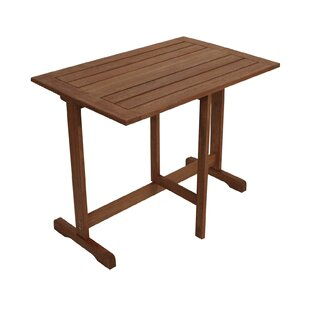 Riesner Folding Wooden Bistro Table By Sol 72 Outdoor