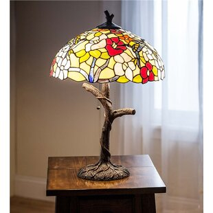 Hummingbird Tiffany Stained Glass 23 Table Lamp