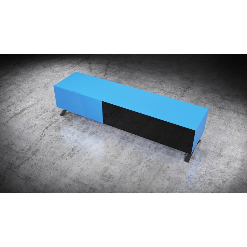 """17 Stories Cesar TV Stand for TVs up to 78""""  Color: Blue"""