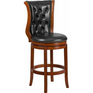 Read Reviews Rouillard 30'' Button Tufted Swivel Bar Stool by Astoria Grand Reviews (2019) & Buyer's Guide