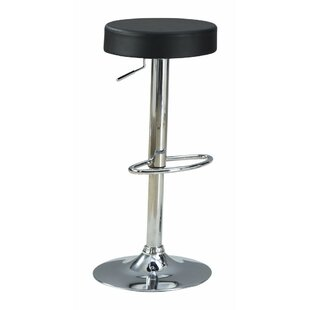 Woolfolk Stylish and Elegant Backless Adjustable Height Swivel Bar Stool Orren Ellis