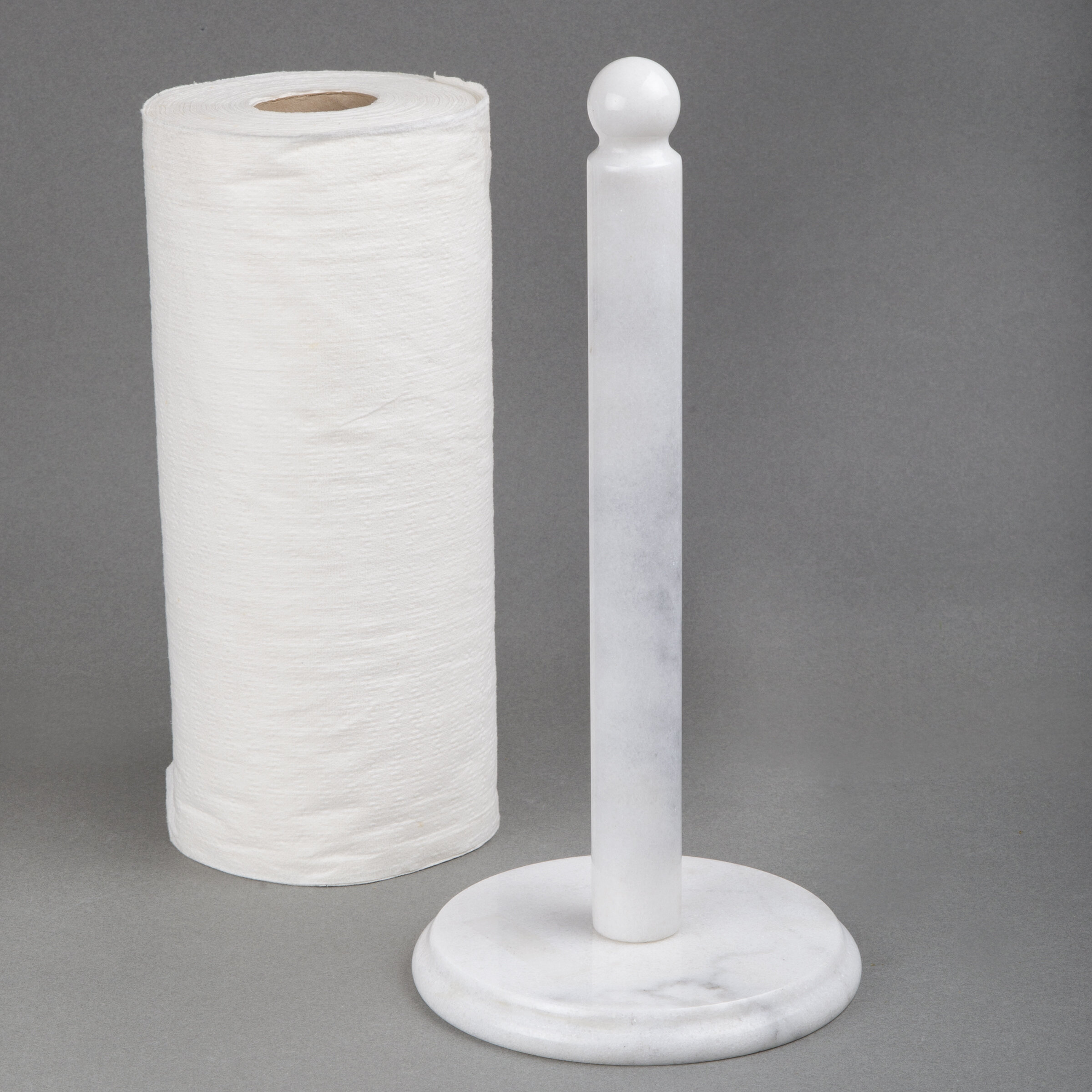 Deluxe Marble Upright Dispenser Free Standing Paper Towel Holder