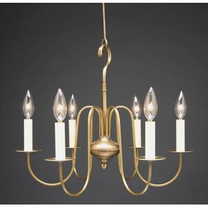 Sockets S Arms Hanging 6 Light Candle Style Chandelier